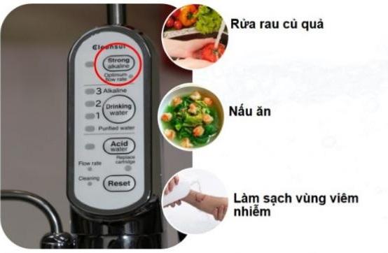 rửa rau bằng máy lọc nước
