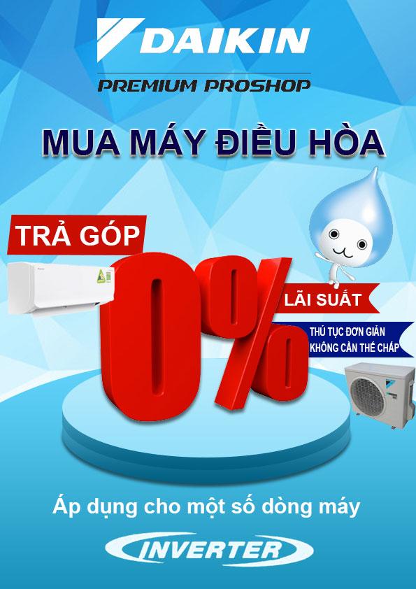 chương trình trả góp máy lạnh lãi suất 0%