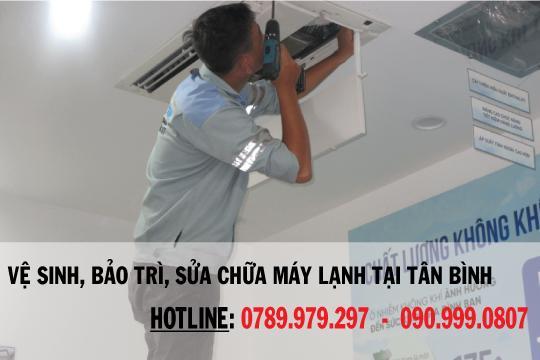 Vệ sinh sửa chữa máy lạnh quận Tân Bình
