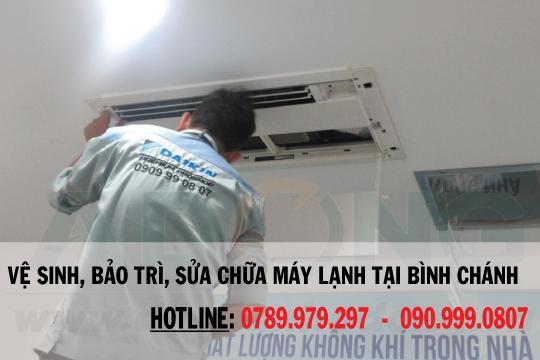 Vệ sinh máy lạnh quận Bình Chánh